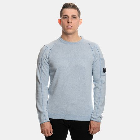 CP COMPANY CREWNECK DOUBLE FACE VANISE BABY BLUE
