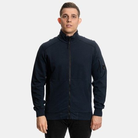 CP COMPANY OPEN SWEAT LIFGT FLEECE NAVY BLUE