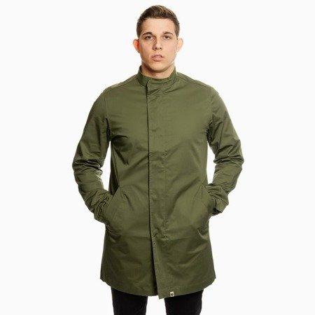 Pretty Green Mens Cotton Collarless Zip Up Mac