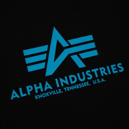 Alpha Industries T Shirt Black/Blue