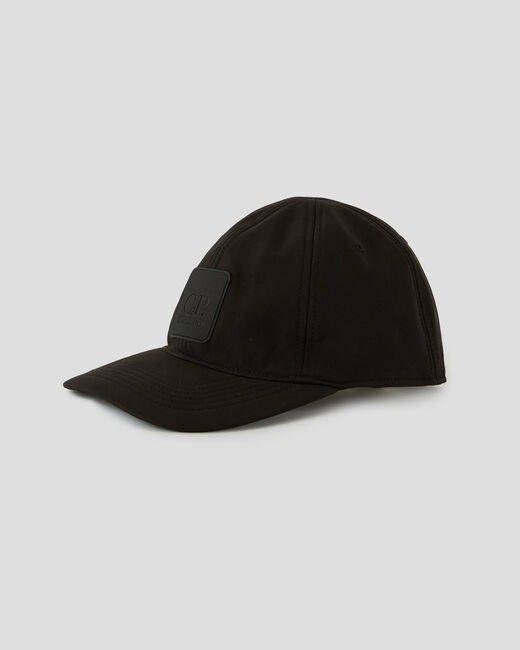CP COMPANY BASBEBALL CAP POLYESTER TWILL BLACK