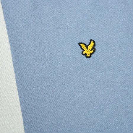 LYLE&SCOTT COLOUR BLOCK T-SHIRT STONE BLUE