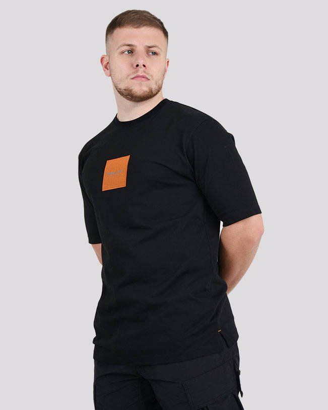 MARSHALL ARTIST RIPSTOP LOGO T-SHIRT 420 BLACK