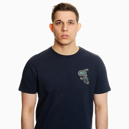 Pretty Green Mens Paisley Chest Embriodery