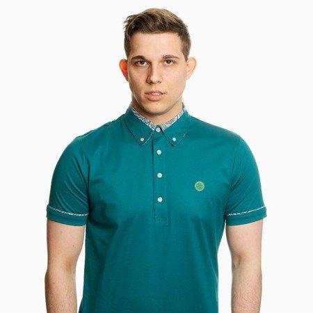 Pretty Green Mens Paisley Print Collar Polo