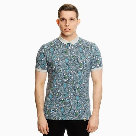 Pretty Green Mens Paisley Print polo Shirt