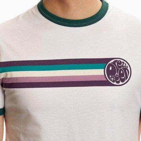 Pretty Green Mens Stripe Printed T-Shirt