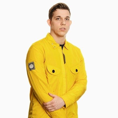 Pretty Green Mens Two Pocket Zip Through Overshirt