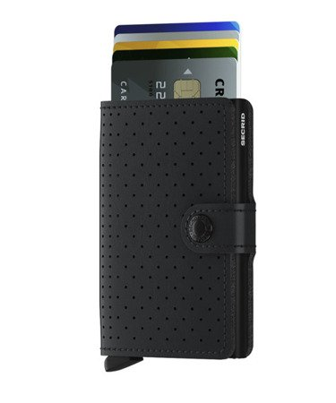 SECRID miniwallet preforated black