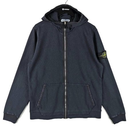 STONE ISLAND OLD DYE TREATMENT FULL ZIP HOODIE NAVY
