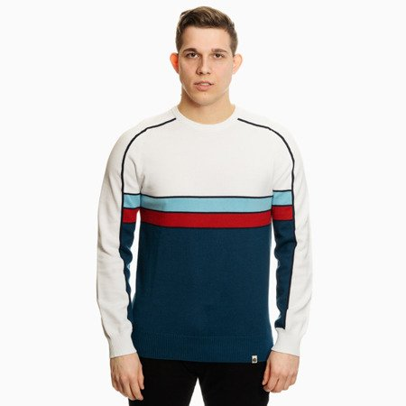 SWETER PRETTY GREEN MENS CONTRAST PANEL KNITTED JUMPER